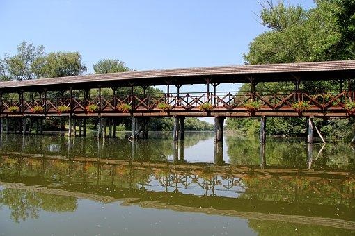 Bridge, The Little Danube, Kolárovo, Slovakia, Water