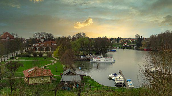 City Harbor, Templin, Uckermark, Lake
