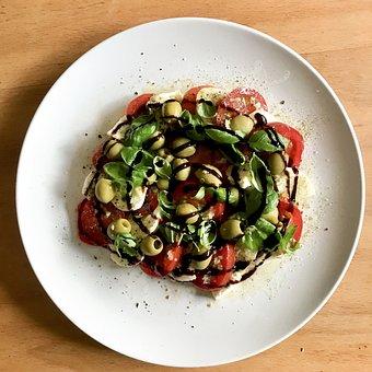 Tomato-mozzarella Salad, Salad, Tomatoes, Food, Eat