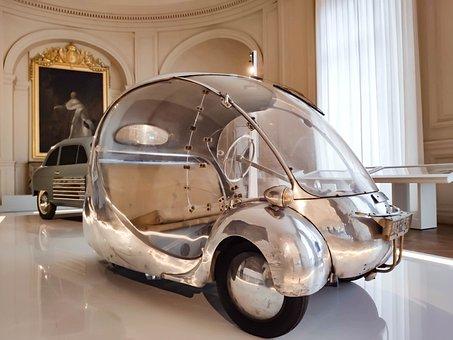 Car, France, Castle, Usa, Château De Compiègne
