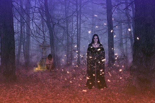 Woman, Young, Gothic, Garment, Forest