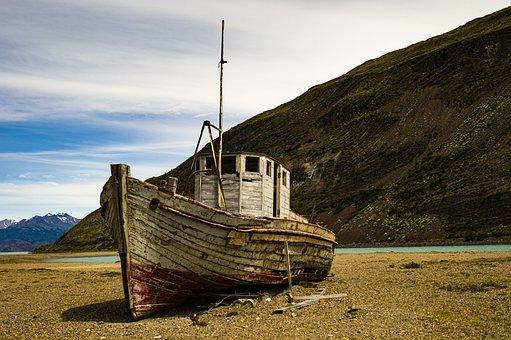 Patagonia, Nave, Fiume, Cielo, Mare, Acqua, Colori