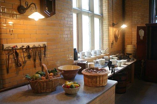 Victorian, Kitchen, Vintage, Antique, Interior