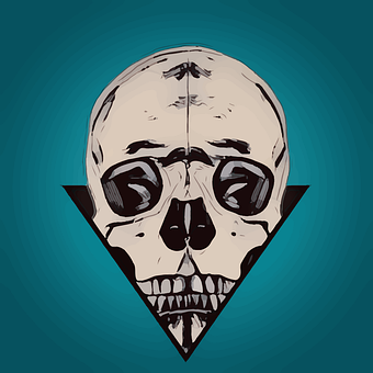 Skull, Popart, Design, Bones, Pop, Gothic, Tattoo, Icon