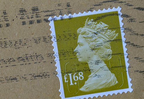 Stamp, Post, Letters, Porto, England, Queen, Envelope