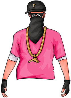 Man In Pink, Free Fire, Mascot, Gaming