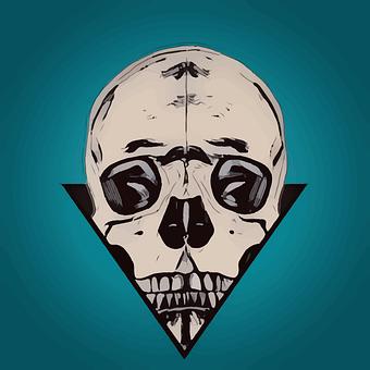 Skull, Popart, Design, Bones, Pop, Gothic, Tattoo, Icon