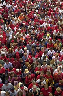 People, Fans, Crowd, Audience, Football, Stadium