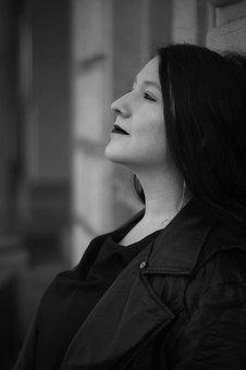 Portrait, Black And White, Girl, Face, Eyes, Model