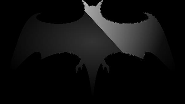 Bat, Silhouette, Halloween, Black, Vampire, Icon