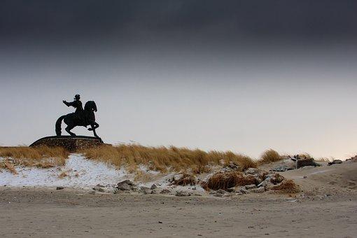 Baltika, Kaliningrad, Storm, Coast, Wind, Winter