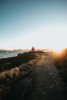 Lighthouse, Sunset, Sea, Coast, Light, Ocean, Water