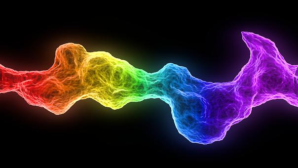 Rainbow, Abstract, Black, Fire, Multicolor, Render
