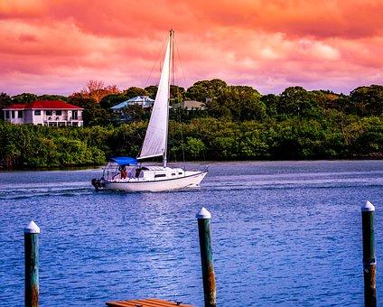 Boat, Sailboat, Intercoastal, Water