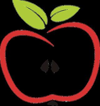 Abstract, Apple, Eat, Edible, Fruit, Stylized