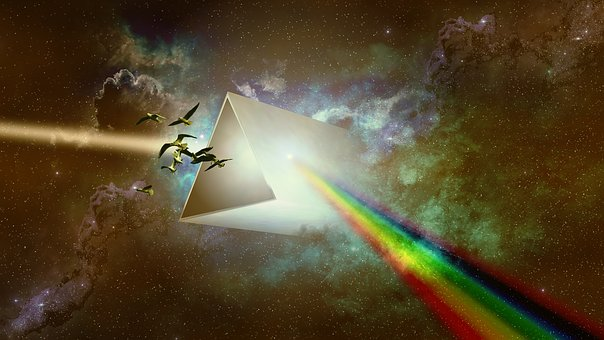 Prism, Spectrum, Star, Nebula, Fantasy, Triangular