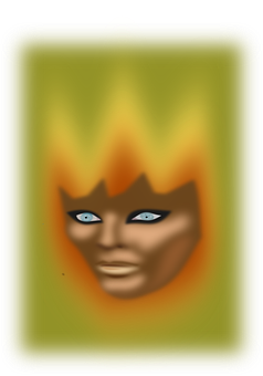Mask, Face, Person, Green, Yellow, Woman, Female, Ghost