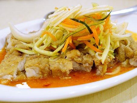 Chicken Fillet, 泰式酸辣鸡排, Thailand, Spicy, Cuisine