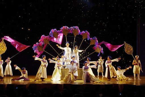 Aladdin, Theater, Cast, Play, Drama, Stage, Actors