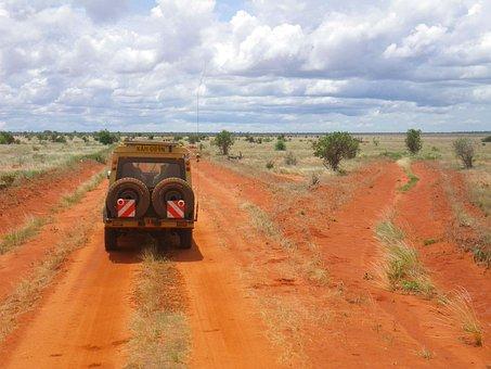 Safari, Kenya, Jeep, Africa