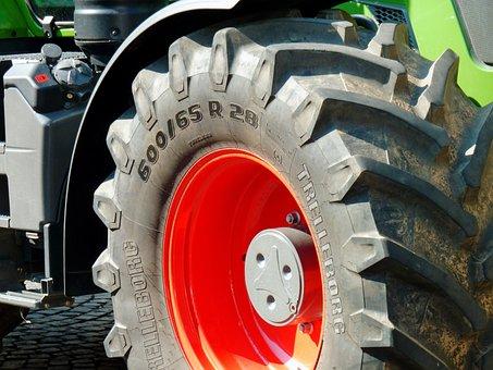 Tractor, Traktorenrad, Agricultural Machine, Harvester
