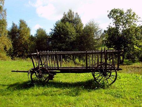 Farm, Cart, Agriculture, Hay, Hay Wagon, Historically