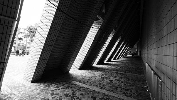 Architecture, Art, Hong Kong, Hk, Black And White
