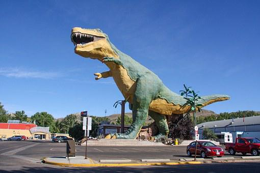Dinosaur, Drumheller, Canada, Badlands, Alberta, Visit