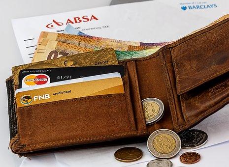 Wallet, Credit Card, Cash, Money, Plastic, Banking