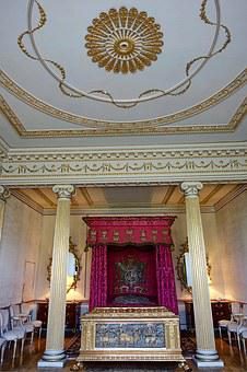 Bedroom, Ceiling, Ornate, Blickling Estate, Palace