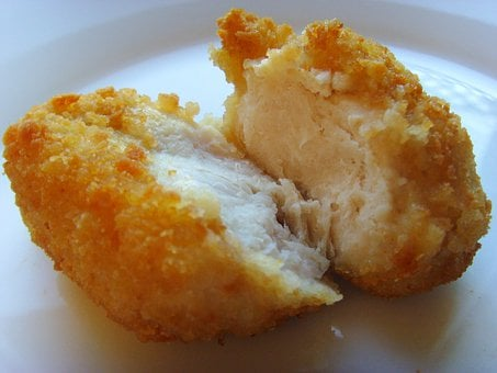 Chicken Nuggets, Chicken, Breaded, Deep Fried, Panier