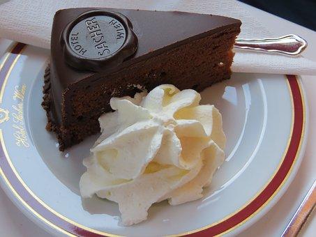 Sacher Cake, Vienna, Cake, Pastry Shop, Candy, Cafe