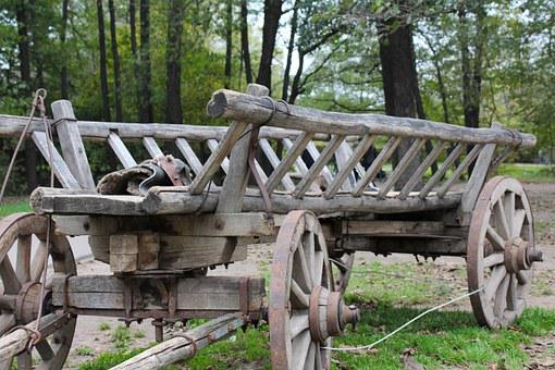 Cart, Wagon, Rims, Old, Shipping, Transport, Forest