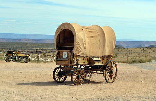 Ranch, Hualapai, Indian, Grand Canyon, Wagon, Cart