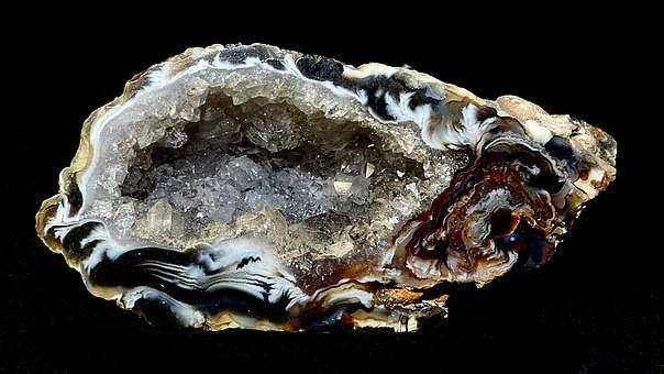 Druze, Inclusion, Petrification, Minerals, Crystals