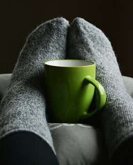 Stockings, Cup, Socks, Cozy, Relaxation, Rest, Lighting