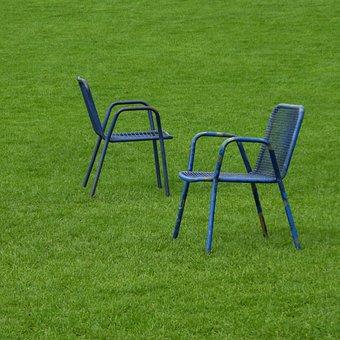 Park, Chairs, Rush, Meadow, Talk, Dialogue, Dispute