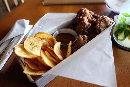 Chicken, Food, Potato, Fried Chicken, Cooking, Lunch