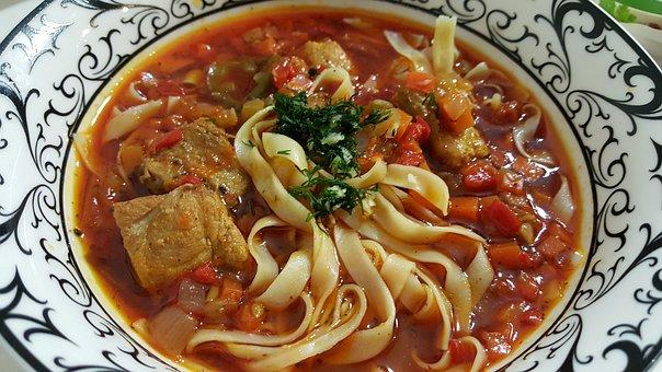 Soup, Lagman, Tasty, Noodles, Kitchen, Food