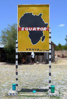 Africa, Equator, Sign, Kenya, Border