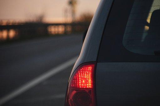 Background, Pkw, Auto, Road, Light, Evening, Drive