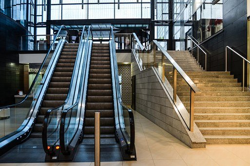 Stairs, Mobile, Shopping Mall, Escalator