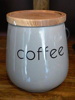 Coffee, Packaging For Coffee, Jar Of Coffee, Ceramics