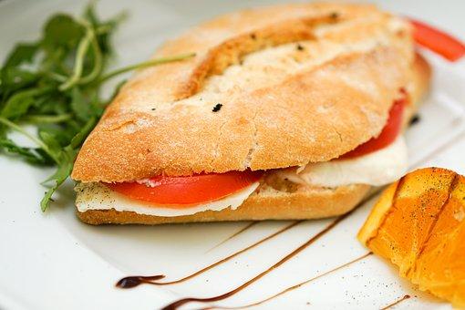 Panini, Bread, Rocket, Mozzarella, Balsamic Vinegar