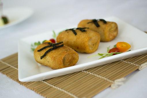 Rissole, Cheese, Stuffed, Food, Filled, Pastry, Plate