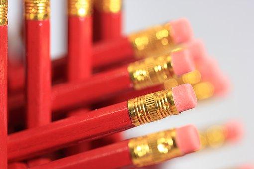 Pencil, Superglue, Pointless, Hexastix, Eraser, 2, 8