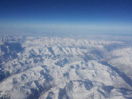 Mountain, Snow, Alps, Plan View, Crafty, Above