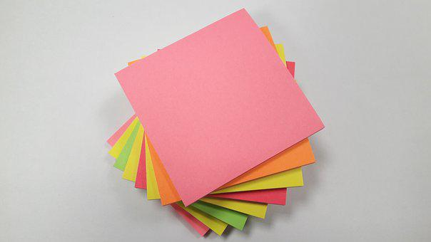 Post It, Note, Memo, Office, Paper, Colorful, Yellow