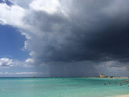 Rain, Sea, Salento, Puglia, Porto Cesareo