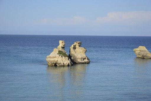 Sea, Two Rocks, Salento